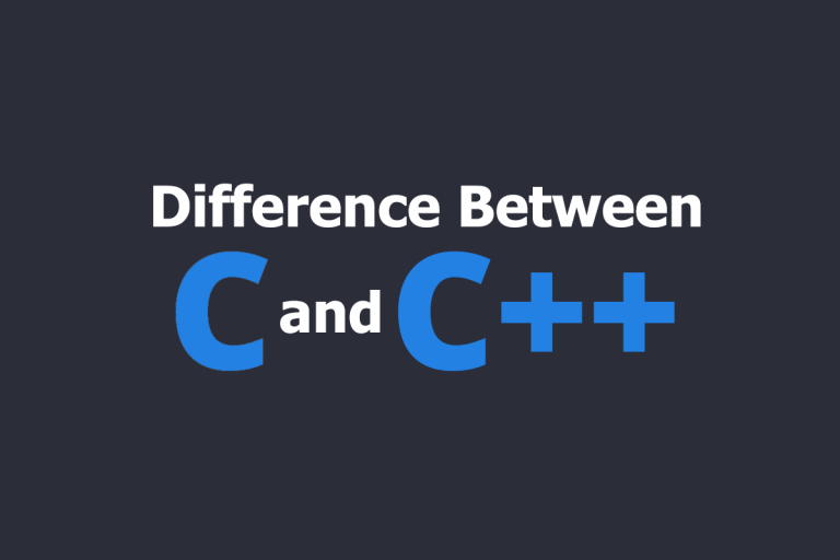 Difference Between C and C++