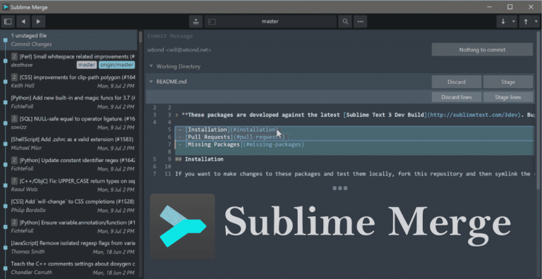 Sublime Merge - A clean code editor by Sublime HQ