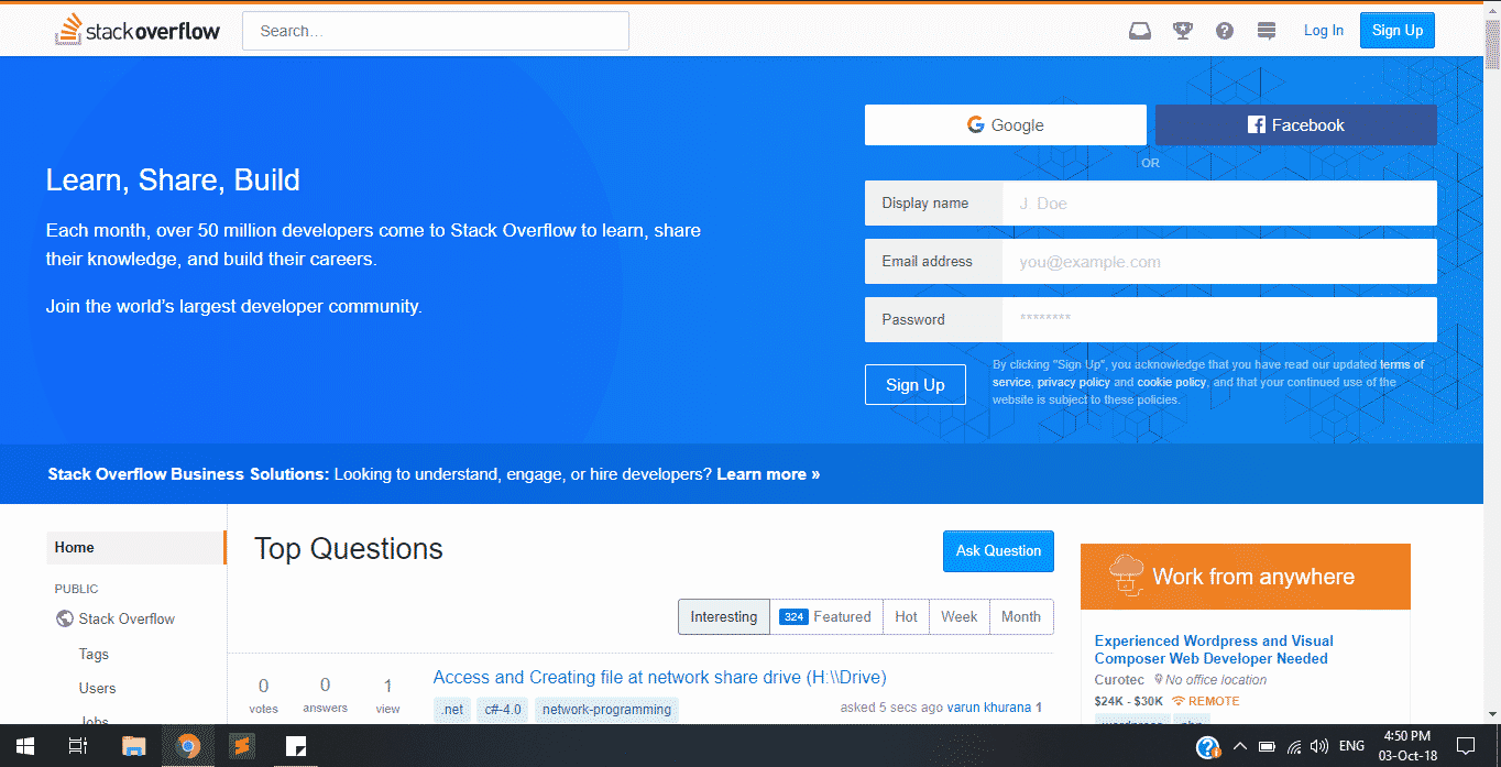 stackoverflow website