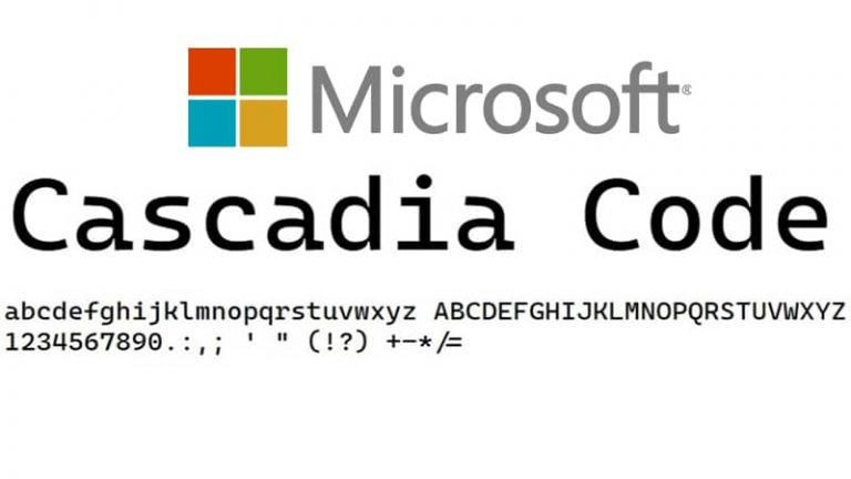 Microsoft releases new open-source font 'Cascadia Code' for programmers